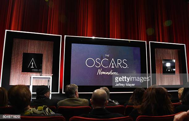 Atmosphere at the nominees during the 88th Oscars Nominations Announcement at the Academy of Motion Picture Arts and Sciences on January 14 2016 in...