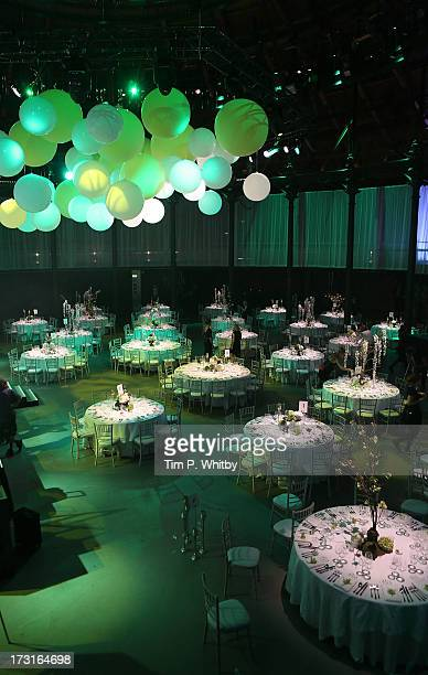 Atmosphere at the Novak Djokovic Foundation inaugural London gala dinner at The Roundhouse on July 8 2013 in London England The foundation supports...