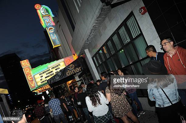 Atmosphere at the Of Monsters and Men benefit concert for MusiCares at the El Rey Theater on Sunday, October 18 in Los Angeles. For more information...
