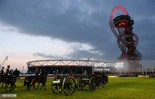 Atmosphere at the opening ceremony for the Invictus Games at Queen Elizabeth Olympic Park on September 10 2014 in London England