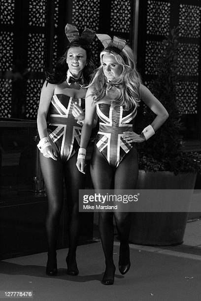Image has been shot in black and white Color version not available Atmosphere at the opening of 'Playboy Club London' at playboy Club on June 4 2011...