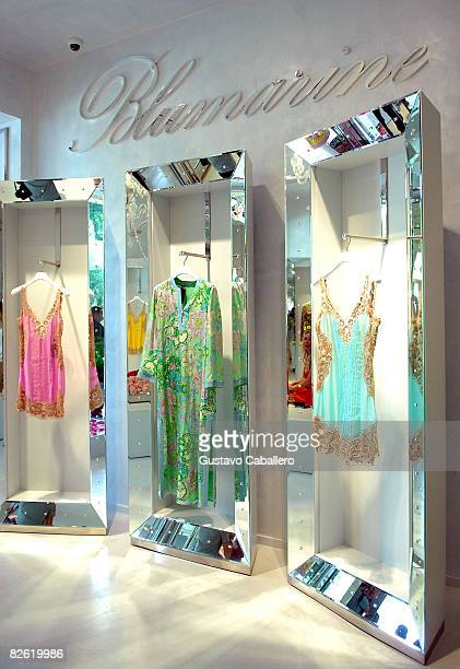 Atmosphere at the opening of the Blumarine flagship store in the United States at the Village of Merrick Park on April 2, 2008 in Coral Gables,...