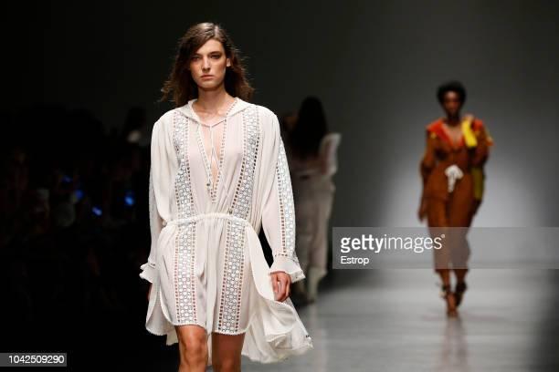 Atmosphere at the Philosophy Di Lorenzo Serafini show during Milan Fashion Week Spring/Summer 2019 on September 22 2018 in Milan Italy