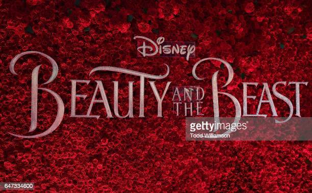 "Atmosphere at the premiere of Disney's ""Beauty And The Beast"" at El Capitan Theatre on March 2, 2017 in Los Angeles, California."