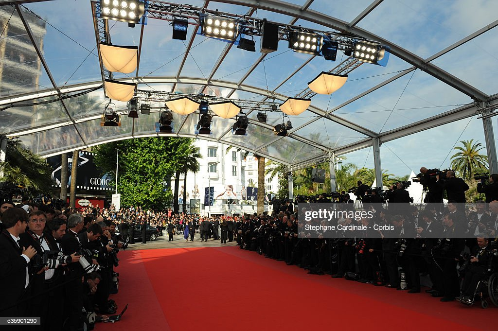 Atmosphere at the premiere of ?Robin Hood? during the 63rd Cannes International Film Festival.