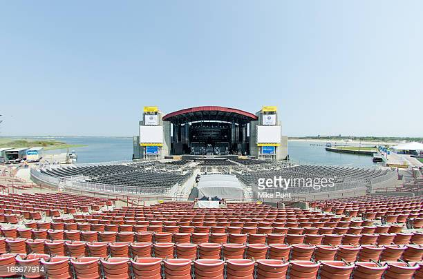 Atmosphere at the press preview of the newly restored Nikon At Jones Beach Theater after being damaged by Superstorm Sandy in October 2012 at Nikon...