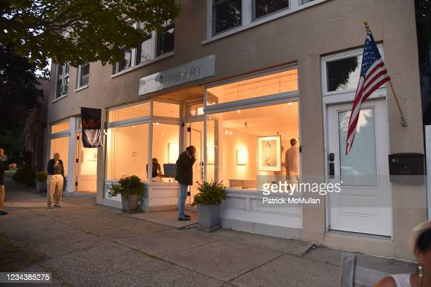 """Atmosphere at the release of Christophe von Hohenberg's new book """"The White Album of The Hamptons"""" and Bruce Helander's """"Collages and Erased de..."""