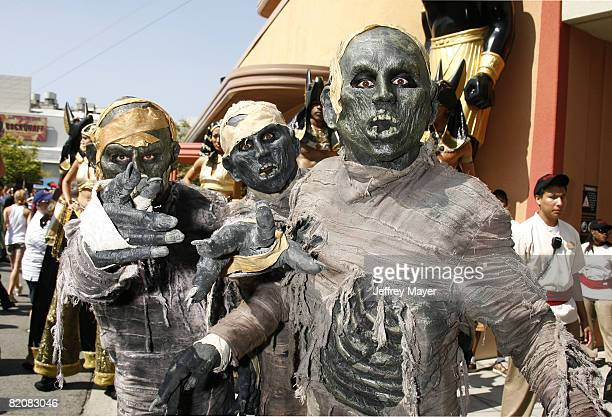 Atmosphere at the Revenge of the Mummy rollercoaster at Universal Studios Hollywood The Entertainment Capital of LA on Sunday July 27 2008 in...