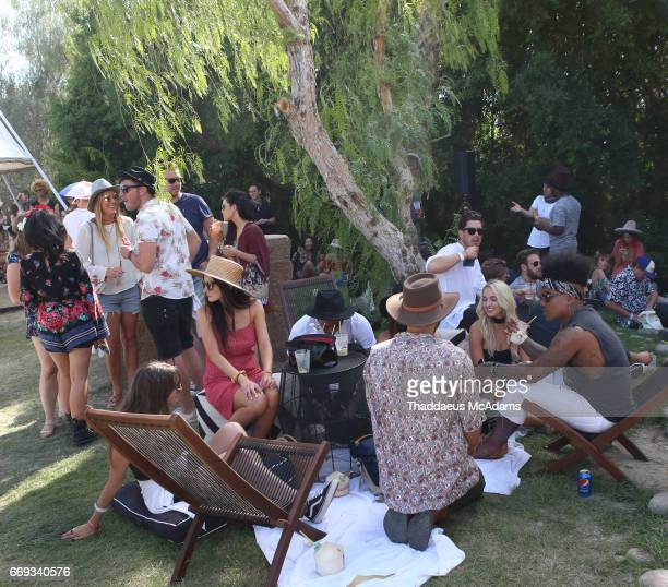 Atmosphere at the REVOLVE Desert House during Coachella on April 16 2017 in Palm Springs California on April 16 2017 in Palm Springs California