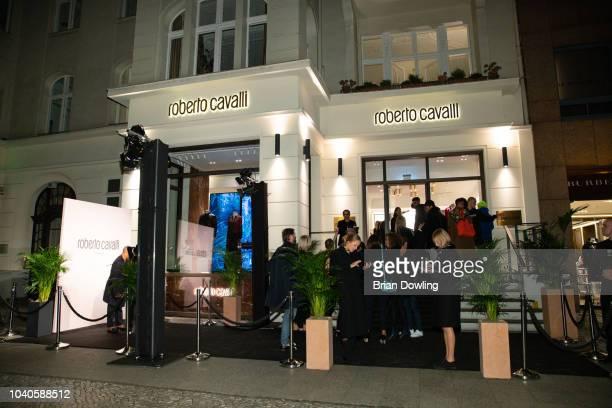 Atmosphere at the Roberto Cavalli Berlin store opening on September 25, 2018 in Berlin, Germany.