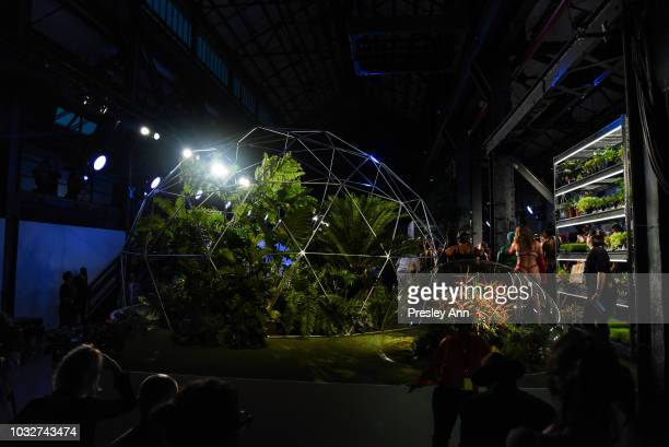 Atmosphere at the Savage x Fenty event September 2018 New York Fashion Week at Brooklyn Navy Yard on September 12 2018 in Brooklyn New York