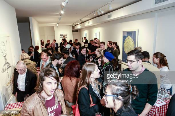 Atmosphere at the Swiss Wine Valais Loves New York hosted by Gregory de la Haba Billy The Artist Anthony HadenGuest and Raul Zamudio at Castle Fitz...