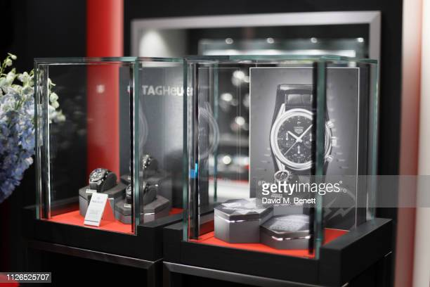 Atmosphere at the TAG Heuer and art provocateur Alec Monopoly launch event celebrating special edition watches on January 31 2019 in London England