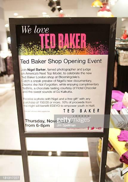 b7befd99dbde Atmosphere at the Ted Baker London shop opening at Bloomingdale s on  November 3 2011 in New