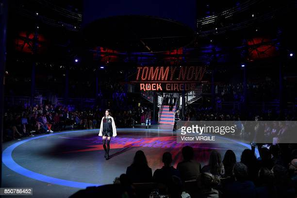 Atmosphere at the Tommy Hilfiger Ready to Wear Spring/Summer 2018 fashion show during London Fashion Week September 2017 on September 19 2017 in...