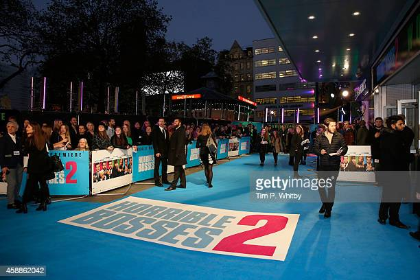Atmosphere at the UK Premiere of Horrible Bosses 2 at Odeon West End on November 12 2014 in London England