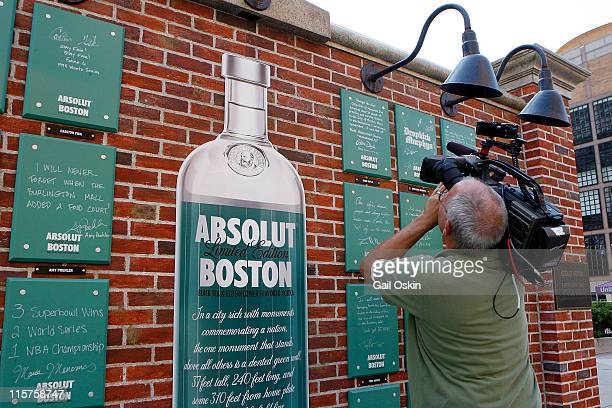 Atmosphere at the unveiling for the ABSOLUT Boston Flavor at Boylston Plaza Prudential Center on August 26 2009 in Boston Massachusetts