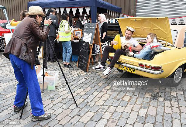 Atmosphere at the Vauxhall Art Car Boot Fair 2015 on June 14 2015 in London England