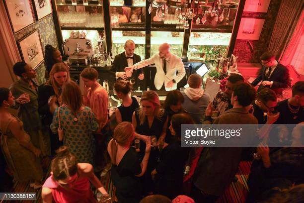 Atmosphere at the Victoria Beckham x YouTube Fashion Beauty After Party at London Fashion Week hosted by Derek Blasberg and David Beckham at Marks...