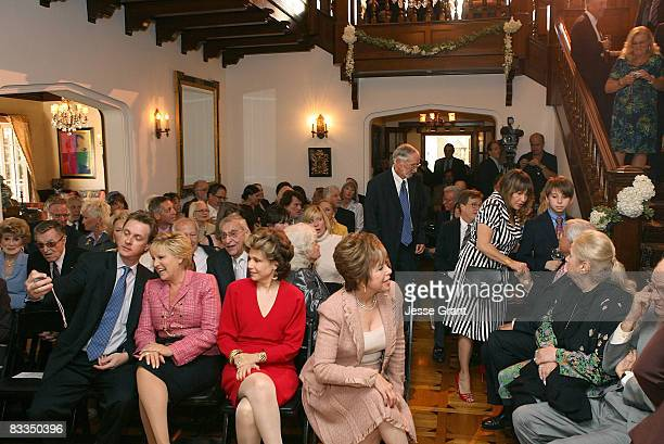 Atmosphere at the wedding of Michael Feinstein and Terrence Flannery held at a private residence on October 17 2008 in Los Angeles California