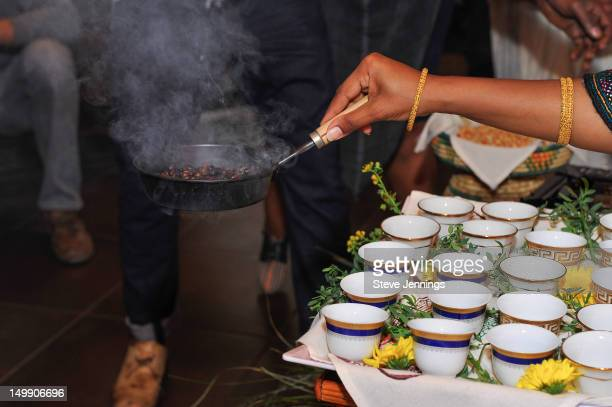 Atmosphere at theilly MonoArabica Coffee Celebration with Ethiopian coffee ceremony hosted by Marcus Samuelsson on August 5 2012 in San Francisco...