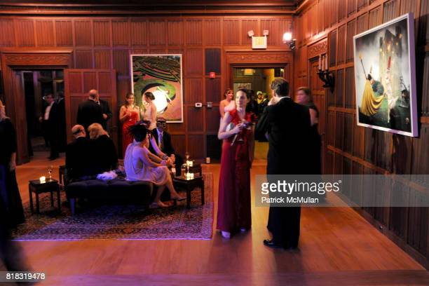 Atmosphere at VIP MASKED BALL for Susan G Komen Headlined by Sir Richard Branson Katie Couric Cornelia Guest HM Queen Noor and Robert Wojtowicz at...