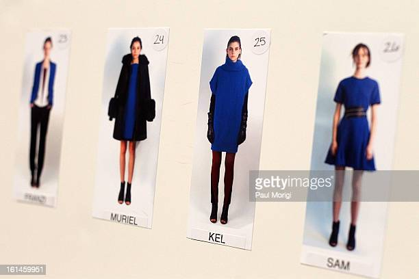 Atmosphere backstage at ICB By Prabal Gurung during Fall 2013 Mercedes-Benz Fashion Week at The Studio at Lincoln Center on February 11, 2013 in New...