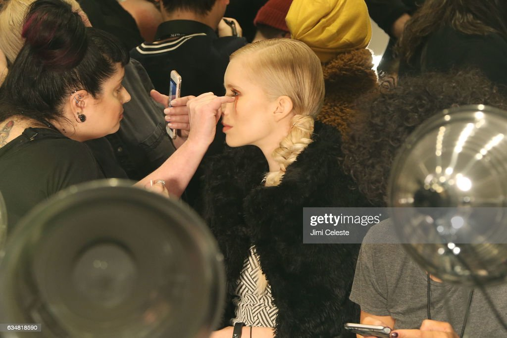 Atmosphere backstage at the Christian Siriano show during 2017 February New York Fashion Week in the Grand Ballroom at The Plaza Hotel on February 11, 2017 in New York City.