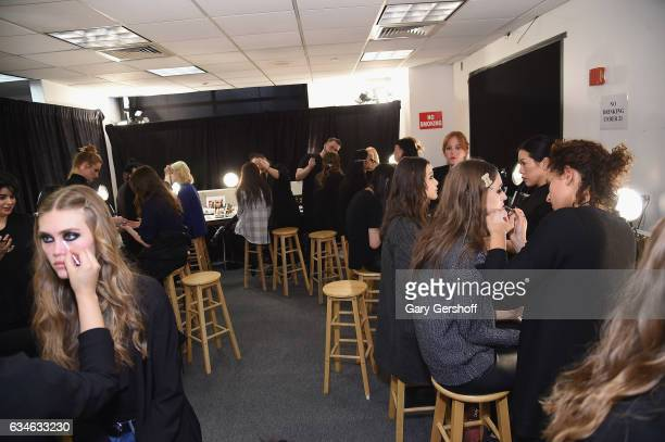 Atmosphere backstage at the Cushnie Et Ochs fashion show during February 2017 New York Fashion Week at Gallery 1 Skylight Clarkson Sq on February 10...