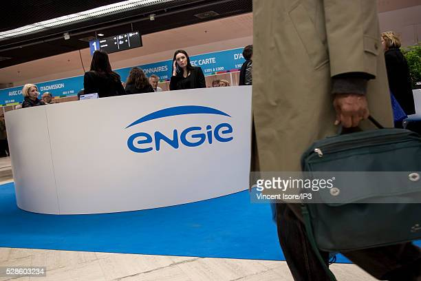 Atmosphere before the shareholders meeting of Engie on May 3 2016 in Paris France French energy group Engie is announcing the appointment of Isabelle...