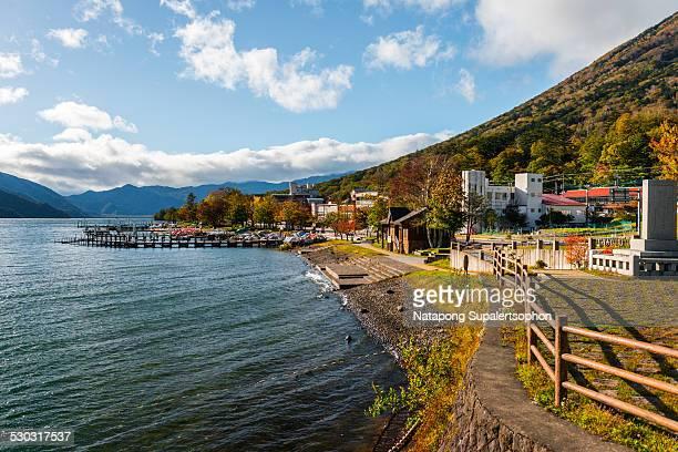 atmosphere beside lake chuzenji - nikko city stock pictures, royalty-free photos & images