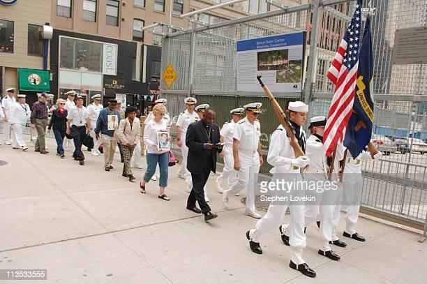 atmosphere during 9/11 Victims' Families Gather at Ground Zero for Prayer Vigil During Fleet Week at Ground Zero Former World Trade Center Site in...