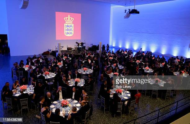 Atmosphere during a Gala Dinner for HRH Mary Crown Princess of Denmark at the Museum of Fine Arts on March 12 2019 in Houston Texas