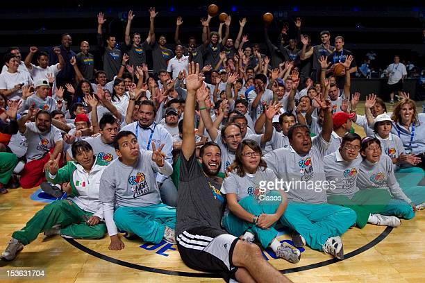 Atmosphere during a training session of New Orleans Hornets and Orlando Magic with disabled people at Arena on October 06 2012 in Mexico City Mexico
