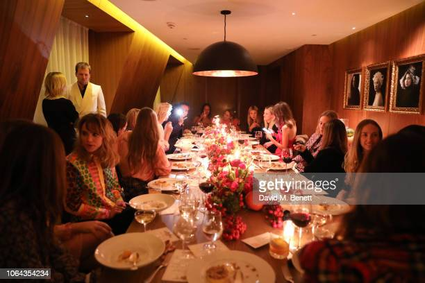 Atmosphere during Alexa Chung's CHUNGSGIVING dinner to celebrate Thanksgiving and the launch of her exclusive ALEXACHUNG holiday capsule on...