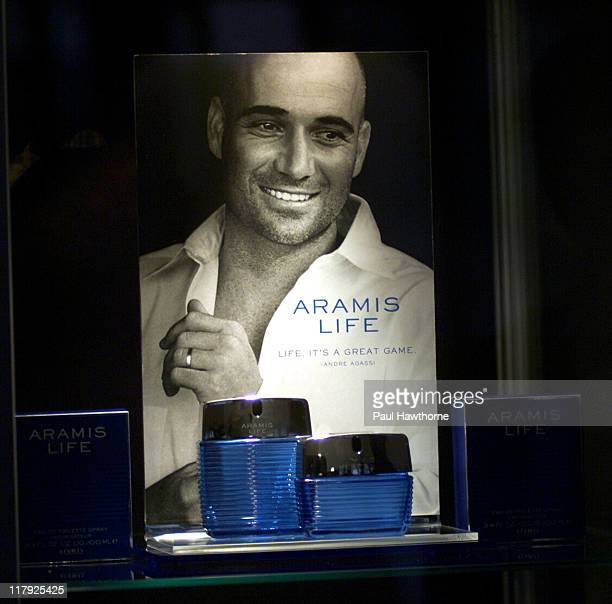 Atmosphere during Andre Agassi Launches New Men's Fragrance Aramis Life at Christie's in New York City New York United States