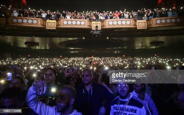Atmosphere during Anuel AA Karol G In Concert at United Palace Theater on November 17 2018 in New York City