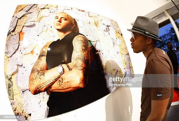 Atmosphere during Bacardi Big Apple and Jonathan Mannion Hip Hop Photo Exhibition June 26 2006 at 222 Gallery in Los Angeles California United States