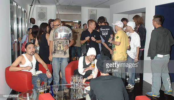 Atmosphere during BAPE CAFE Reception and Opening Party at Bape Cafe in Tokyo Japan