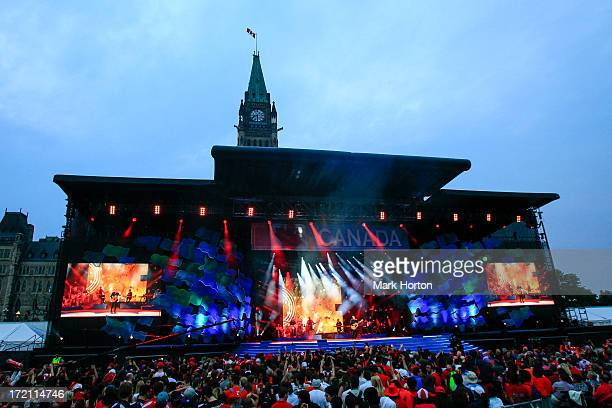 Atmosphere during Canada Day celebrations on Parliament Hill on July 1 2013 in Ottawa Canada