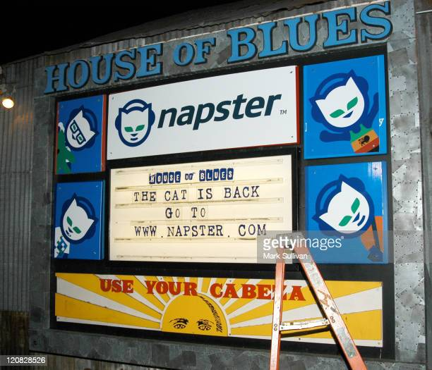Atmosphere during Celebrate The Launch of Napster 20 Arrivals at House of Blues in West Hollywood California United States