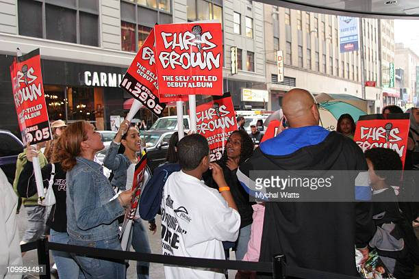 Atmosphere during Chris Brown in Concert at Nokia Theater in New York City April 14 2006 at Nokia Theater Times Square in New York City New York...