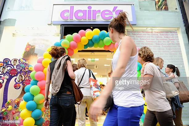 Atmosphere during Claire's New Shop Inauguration on May 30 2012 in Paris France