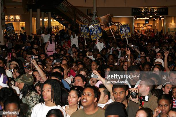 Atmosphere during Def Jam and FYI Present a Rihanna Live Performance and Autograph Sighing April 25 2006 at FYI Gardens Mall in Elizabeth New Jersey...