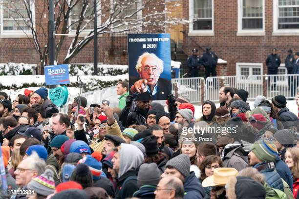 Atmosphere during Democratic Presidential candidate US Senator Bernie Sanders first presidential campaign rally with more than 10000 in attendance at...