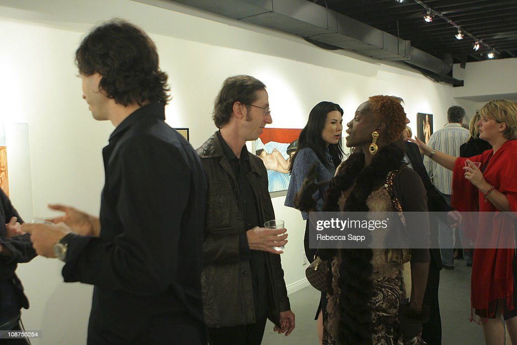 Atmosphere during Dr. Randal Haworth Art Show at 216 N. Canyon Drive in Beverly Hills, California, United States.