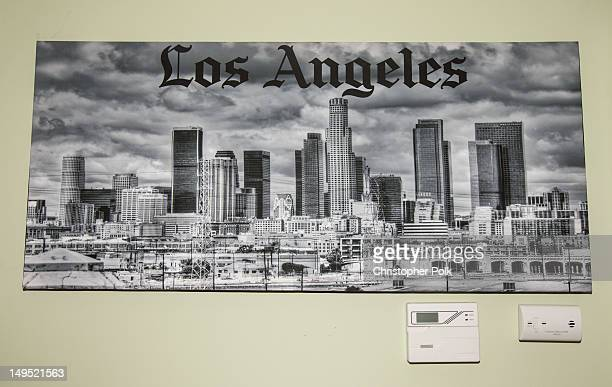 Atmosphere during during an at home photo shoot with Jill Kussmacher on July 16 2012 in Los Angeles California