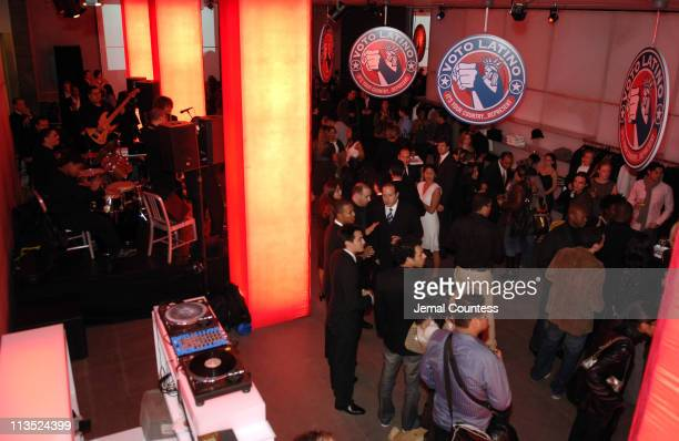 Atmosphere during Emporio Armani and Rosario Dawson Celebrate Voto Latino at Emporio Armani Boutique in New York City, New York, United States.
