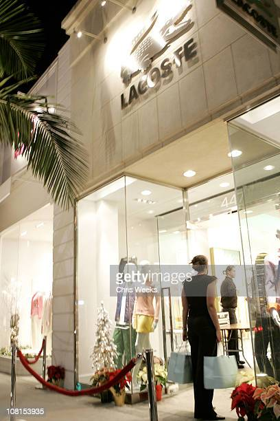 91df0263a97868 Atmosphere during Grand Reopening of Lacoste Boutique on Rodeo Drive at Lacoste  Boutique in Beverly Hills