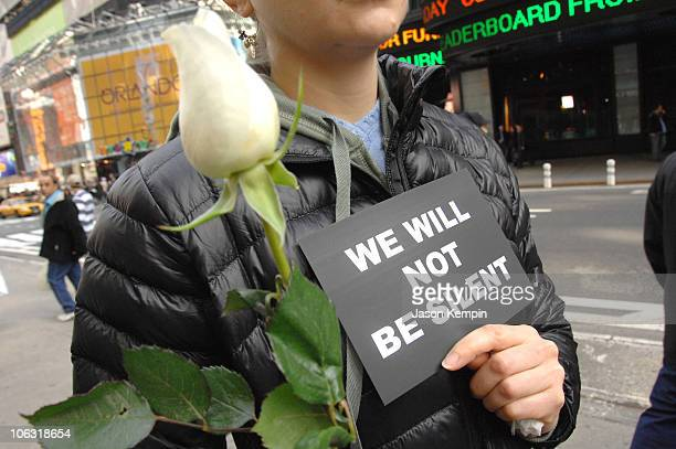 Atmosphere during Granny Peace Brigade Anti-War Rally - March 12, 2007 at Times Square Recruiting Station in New York City, New York, United States.